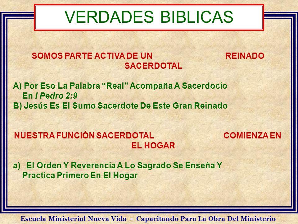 VERDADES BIBLICAS SOMOS PARTE ACTIVA DE UN REINADO SACERDOTAL