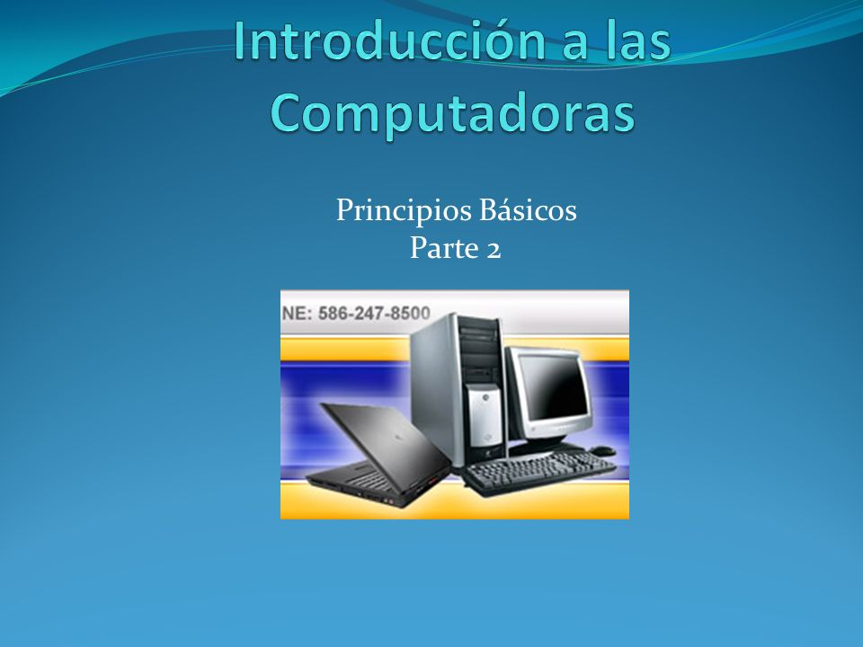 Introducción a las Computadoras