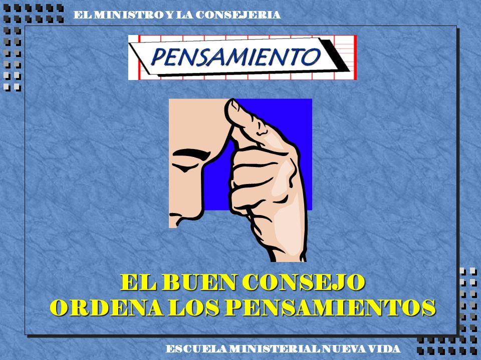 EL BUEN CONSEJO ORDENA LOS PENSAMIENTOS