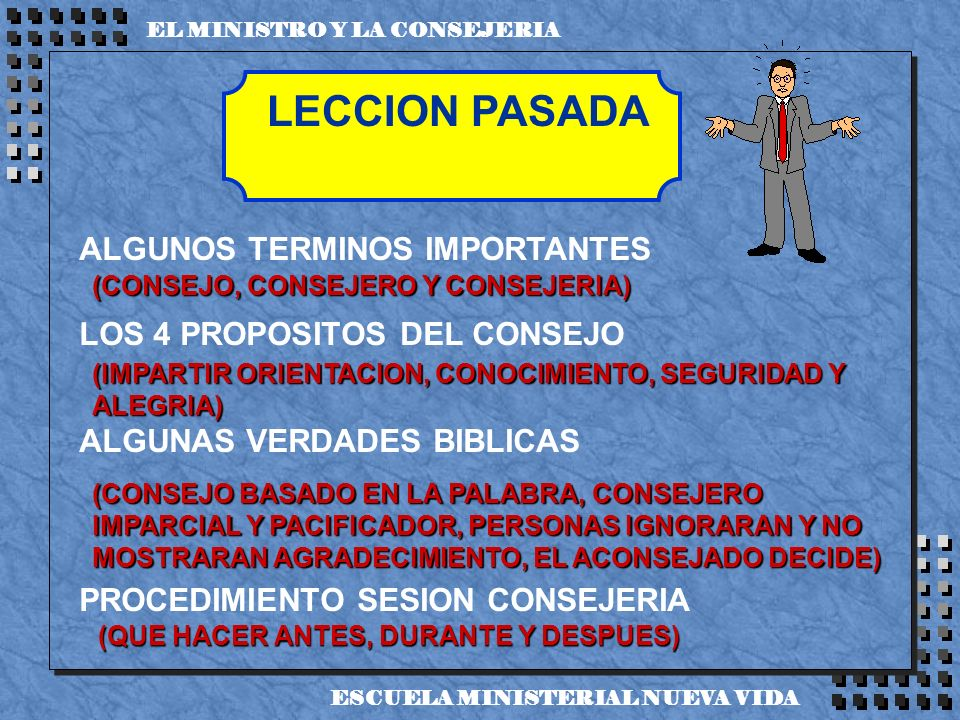 LECCION PASADA ALGUNOS TERMINOS IMPORTANTES