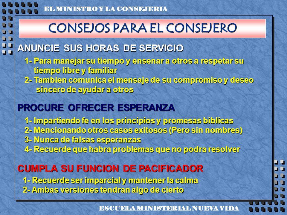 CONSEJOS PARA EL CONSEJERO