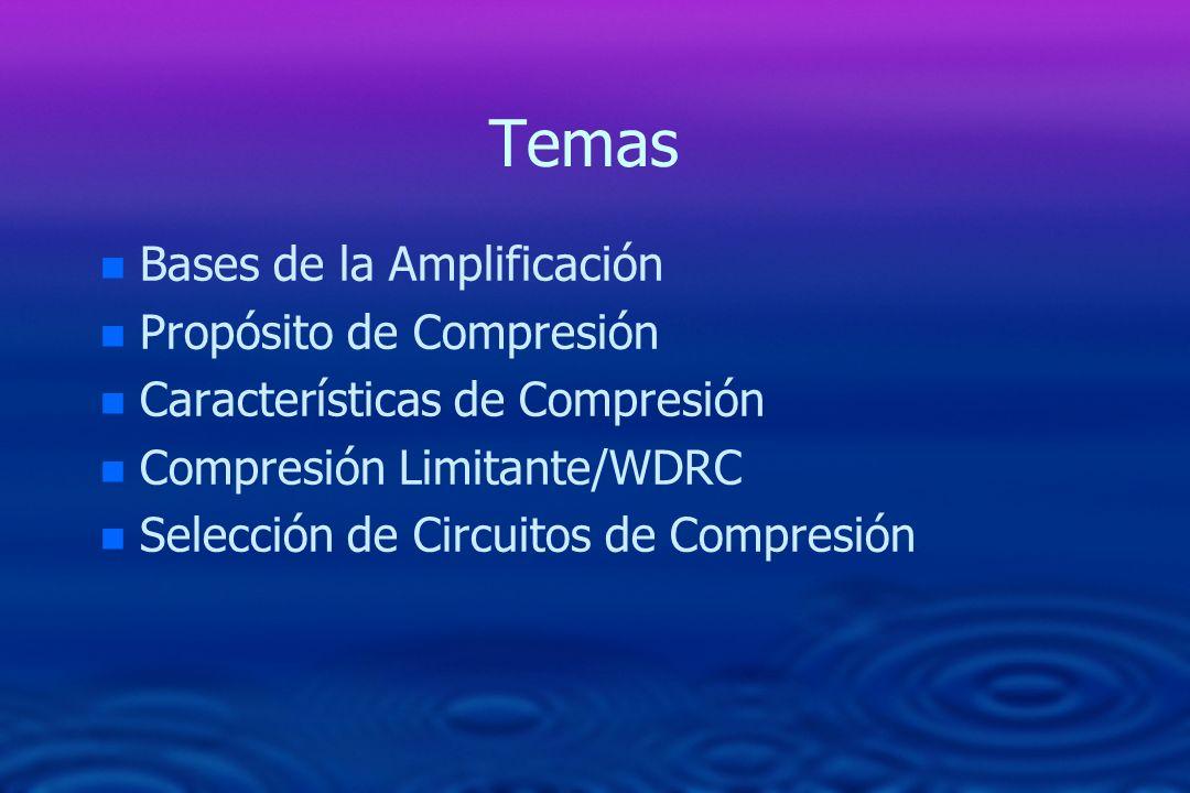 Temas Bases de la Amplificación Propósito de Compresión