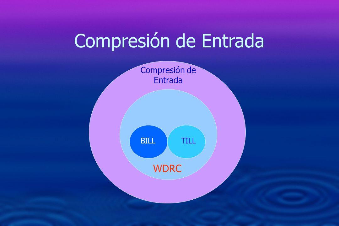 Compresión de Entrada Compresión de Entrada BILL TILL WDRC