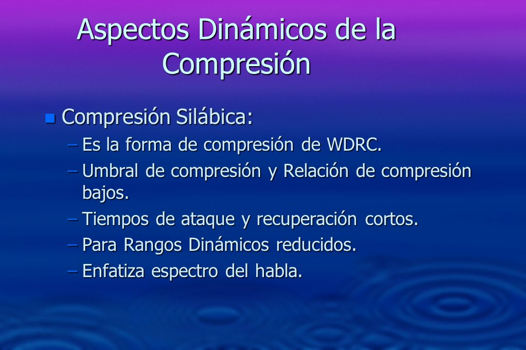Aspectos Dinámicos de la Compresión