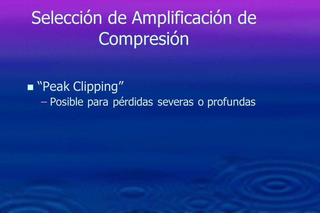 Selección de Amplificación de Compresión