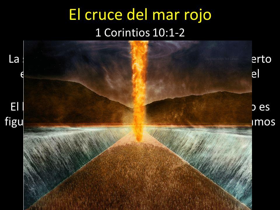 El cruce del mar rojo 1 Corintios 10:1-2