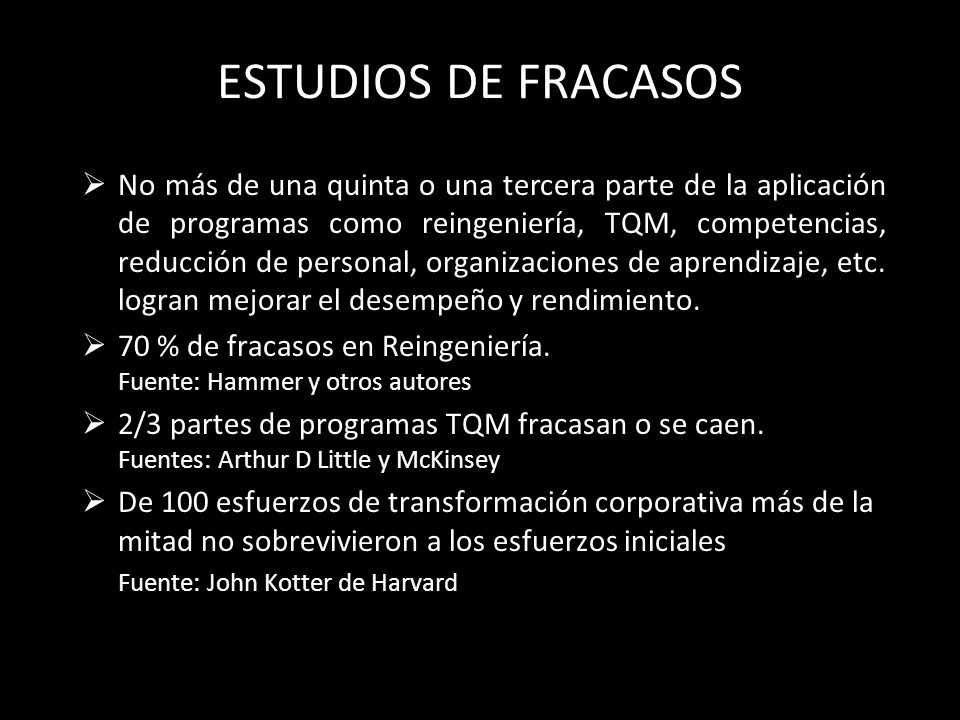ESTUDIOS DE FRACASOS