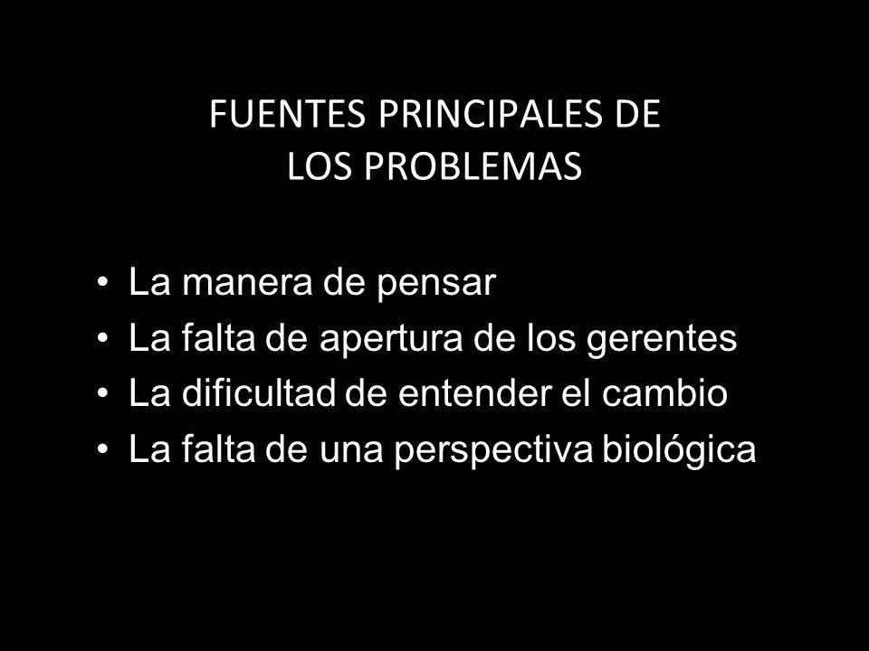 FUENTES PRINCIPALES DE LOS PROBLEMAS