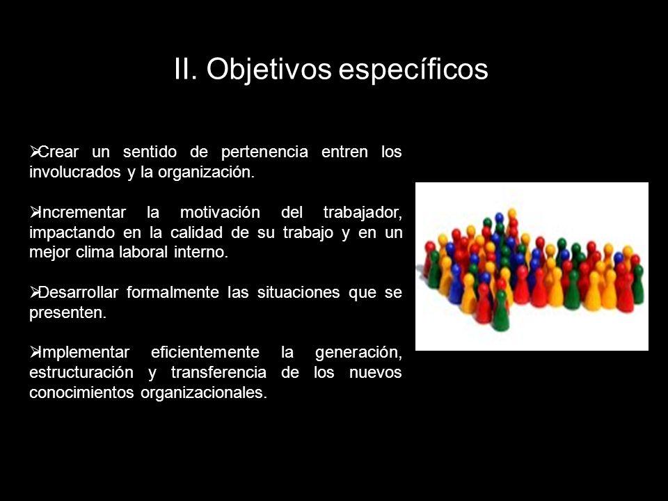 II. Objetivos específicos