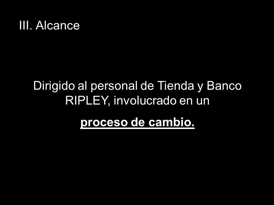Dirigido al personal de Tienda y Banco RIPLEY, involucrado en un