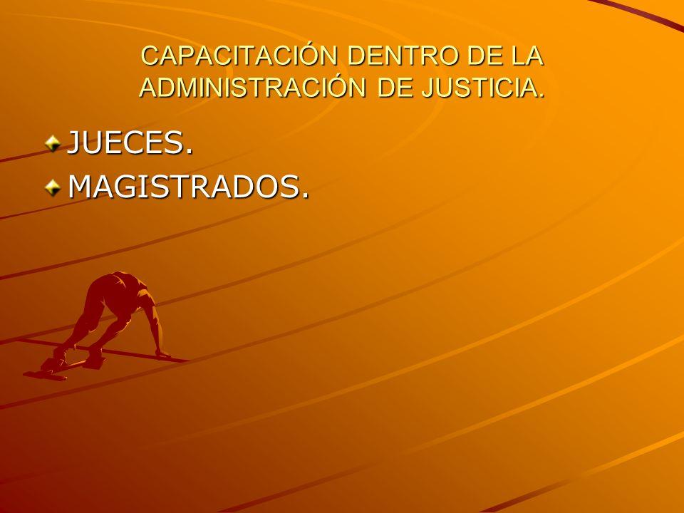 CAPACITACIÓN DENTRO DE LA ADMINISTRACIÓN DE JUSTICIA.