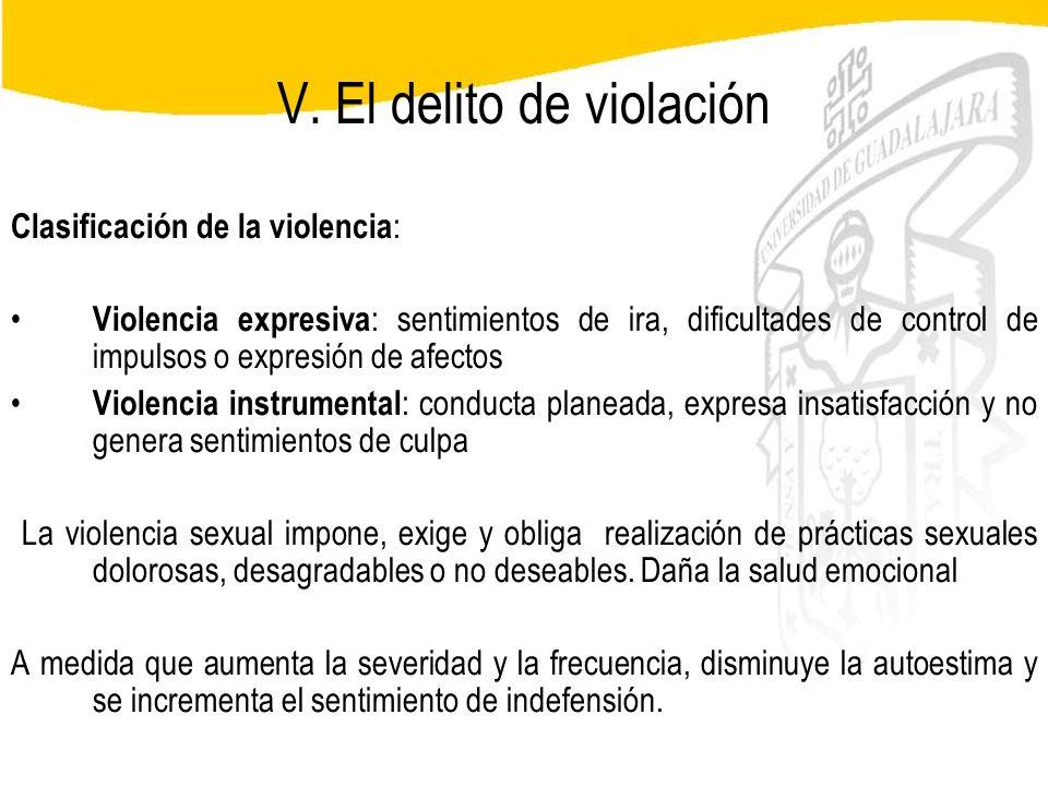 V. El delito de violación
