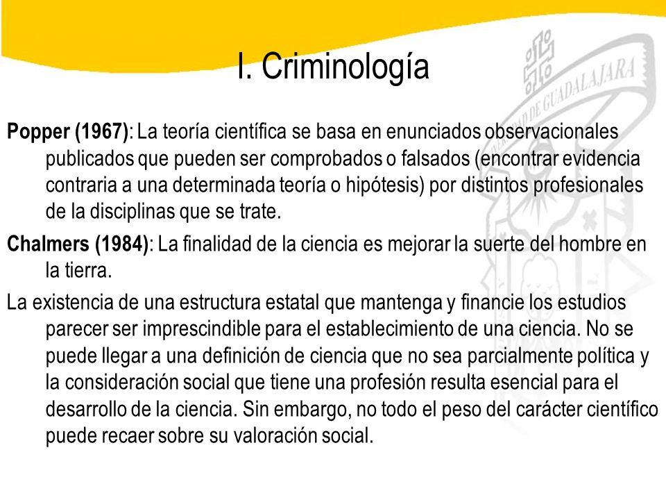 I. Criminología