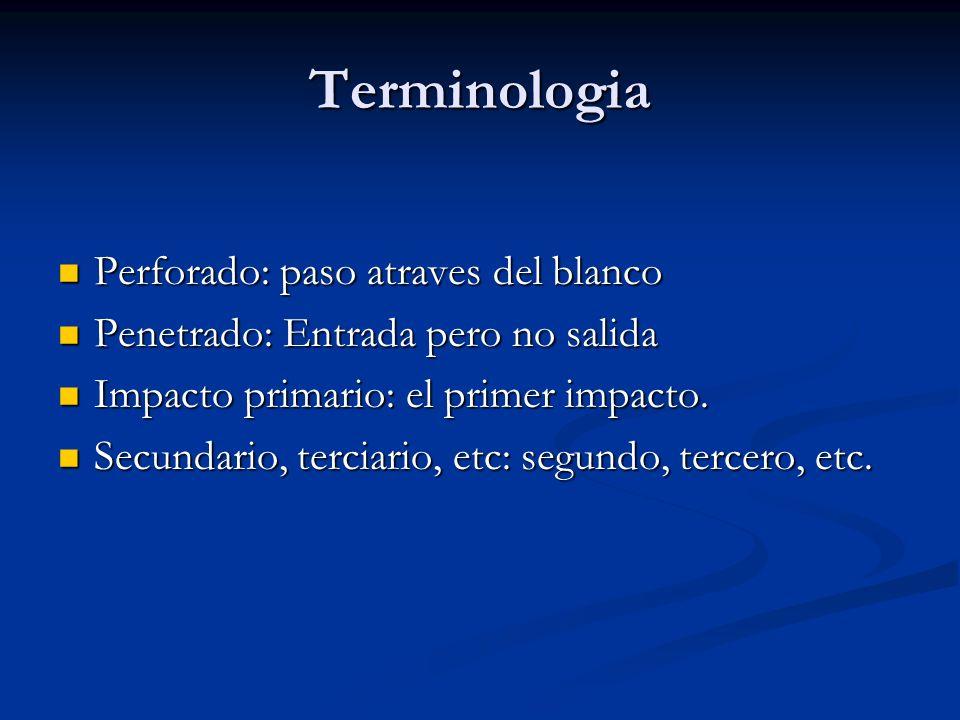 Terminologia Perforado: paso atraves del blanco