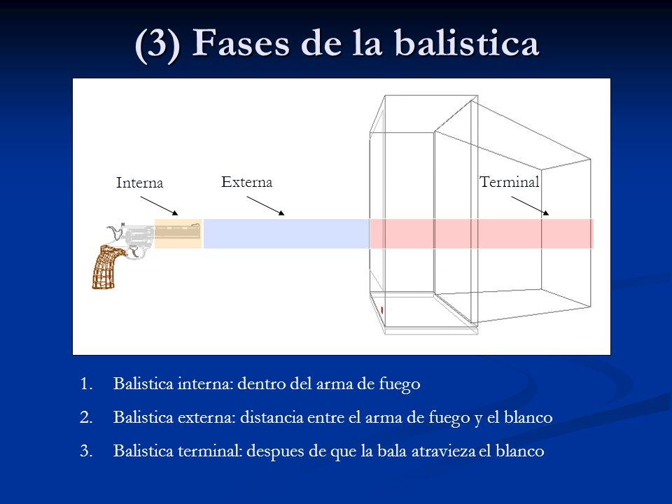 (3) Fases de la balistica