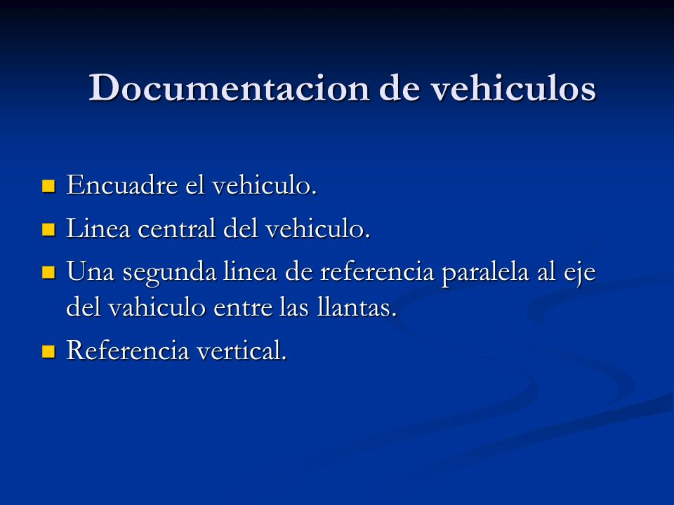 Documentacion de vehiculos