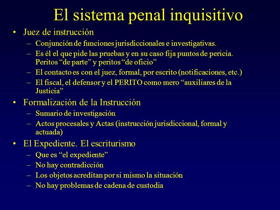 El sistema penal inquisitivo