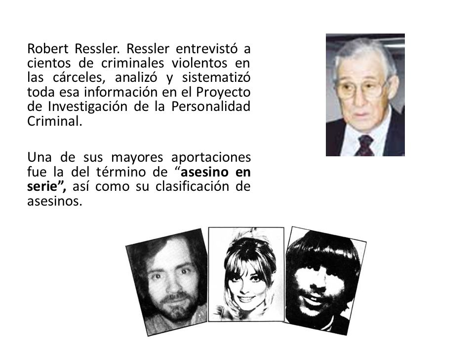 Robert Ressler.