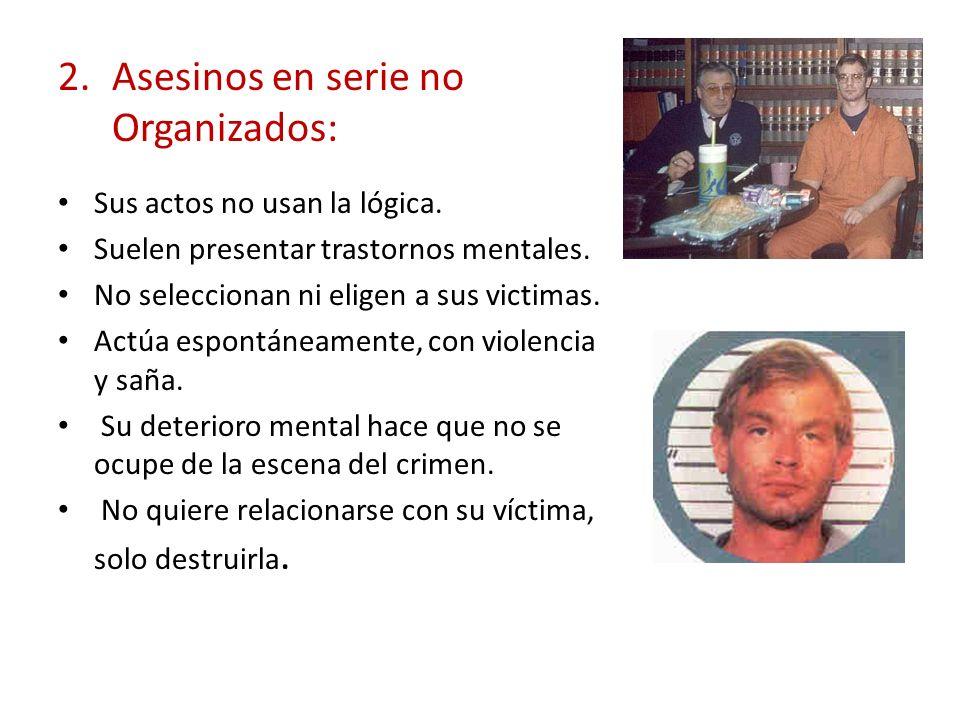 Asesinos en serie no Organizados: