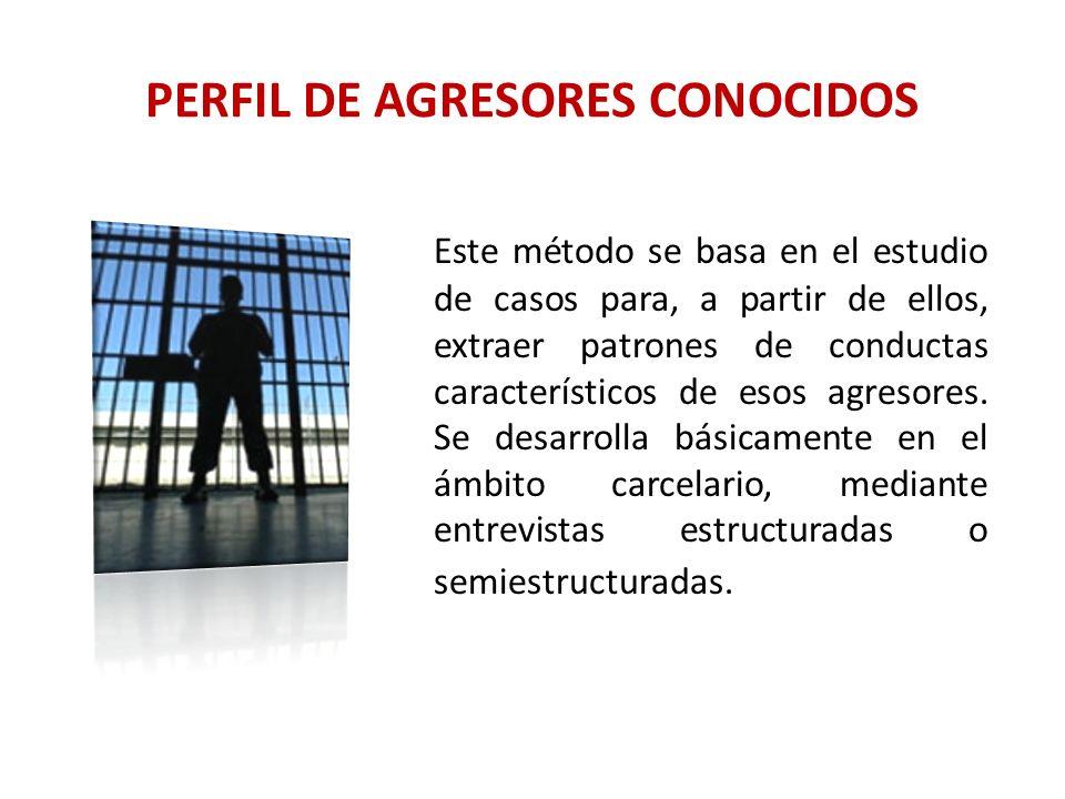 PERFIL DE AGRESORES CONOCIDOS