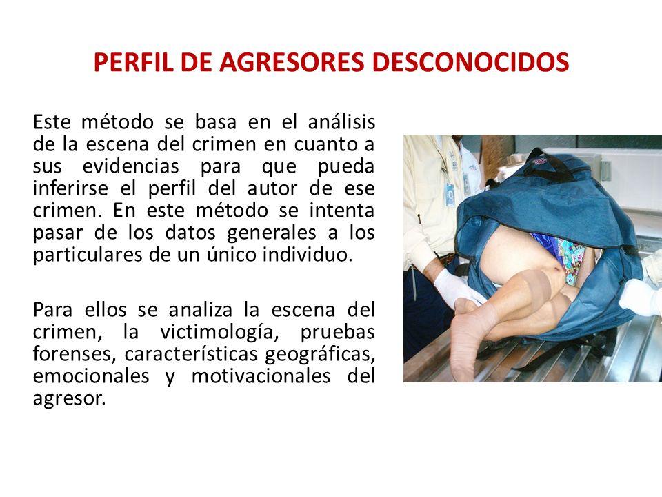 PERFIL DE AGRESORES DESCONOCIDOS