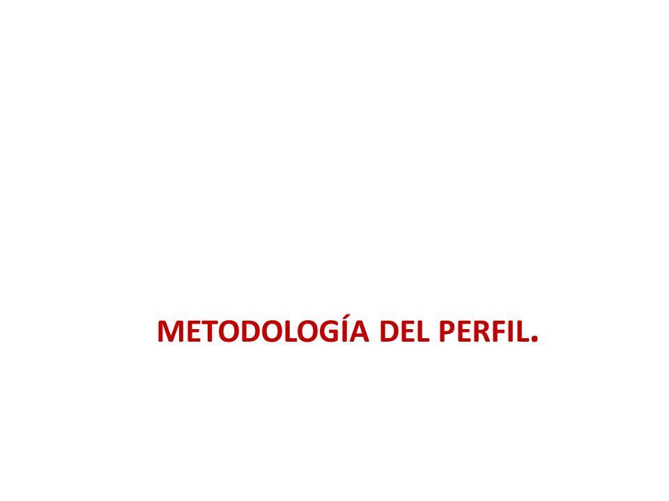 METODOLOGÍA DEL PERFIL.