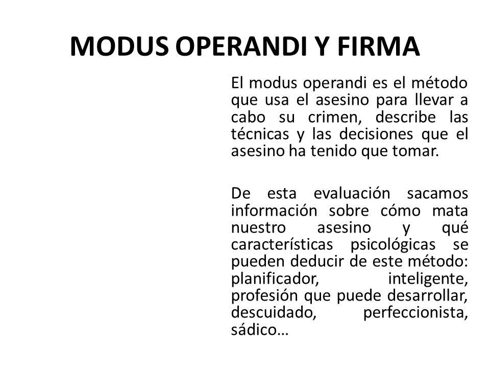 MODUS OPERANDI Y FIRMA