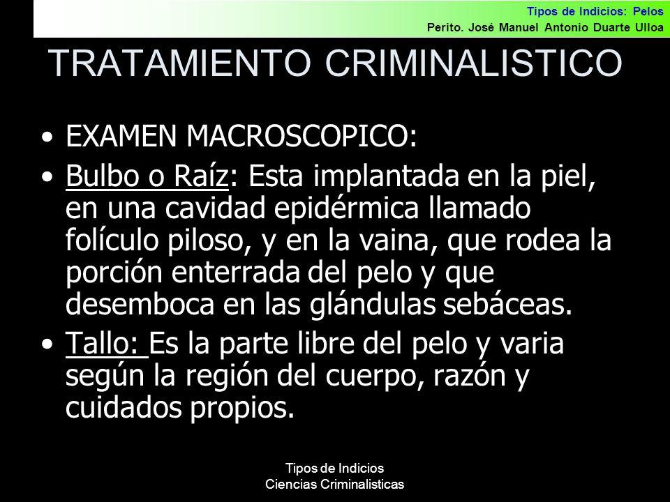 TRATAMIENTO CRIMINALISTICO