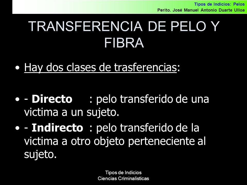 TRANSFERENCIA DE PELO Y FIBRA