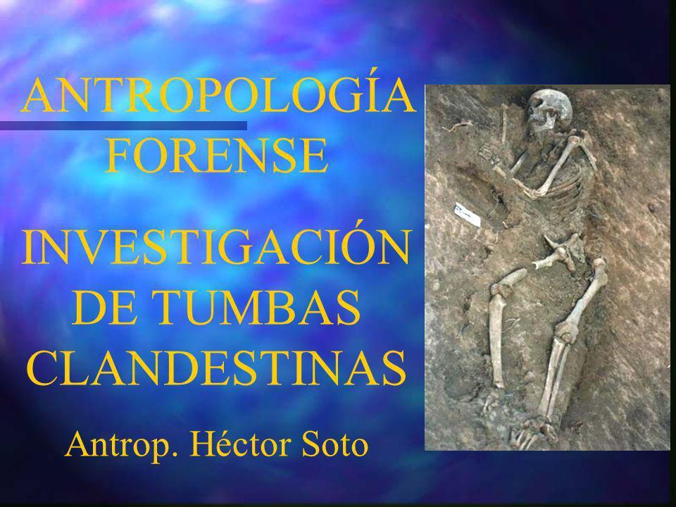 INVESTIGACIÓN DE TUMBAS CLANDESTINAS