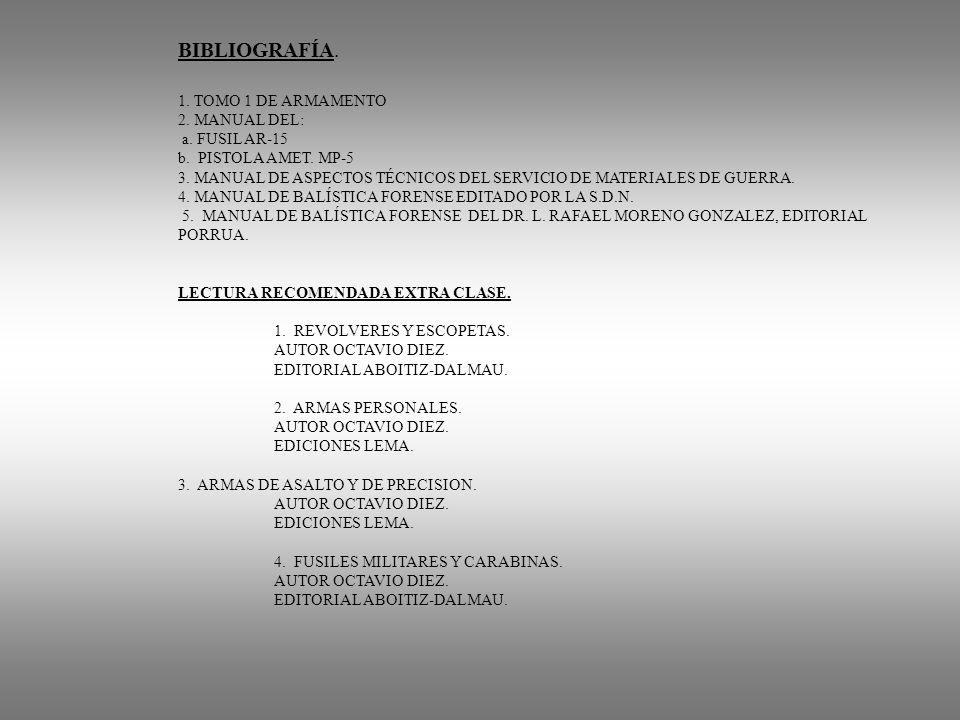 3. MANUAL DE ASPECTOS TÉCNICOS DEL SERVICIO DE MATERIALES DE GUERRA.