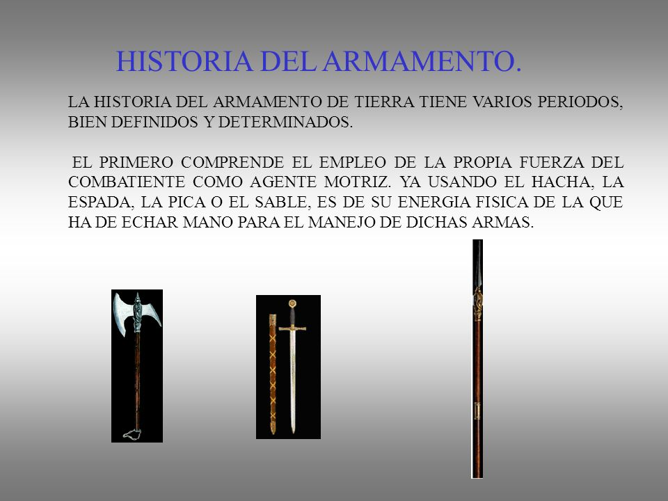 HISTORIA DEL ARMAMENTO.