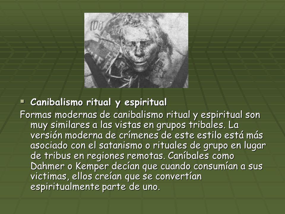 Canibalismo ritual y espiritual