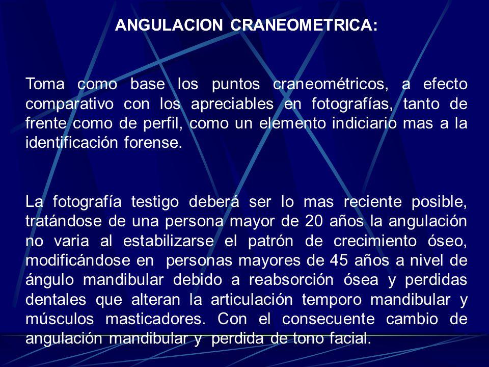 ANGULACION CRANEOMETRICA:
