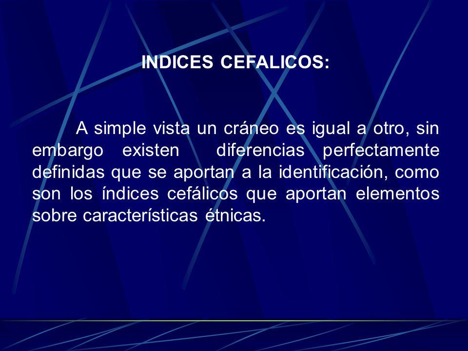 INDICES CEFALICOS: