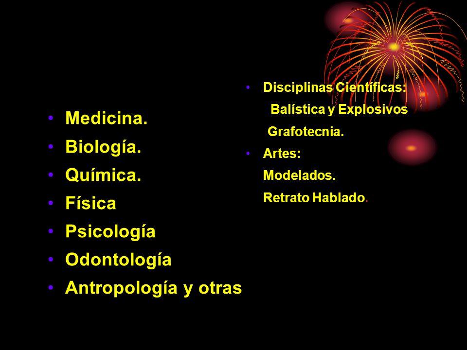 Medicina. Biología. Química. Física Psicología Odontología