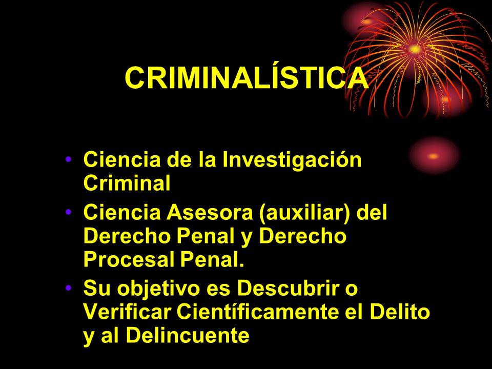 CRIMINALÍSTICA Ciencia de la Investigación Criminal