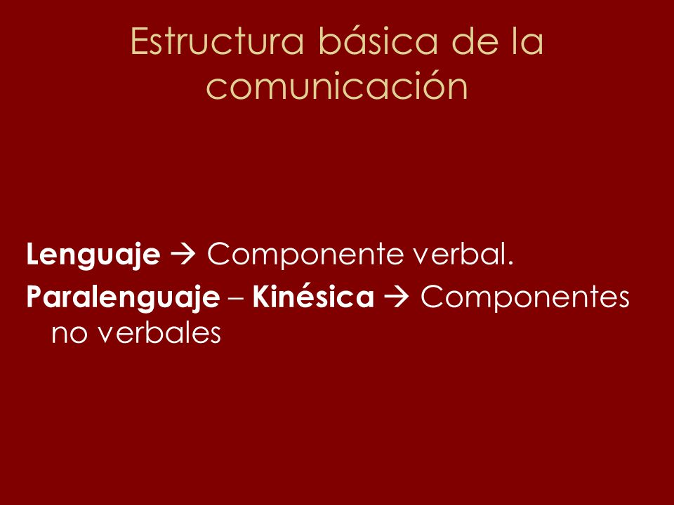 Estructura básica de la comunicación