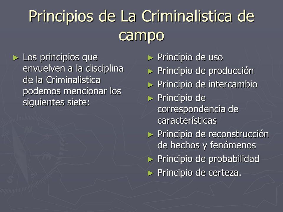 Principios de La Criminalistica de campo