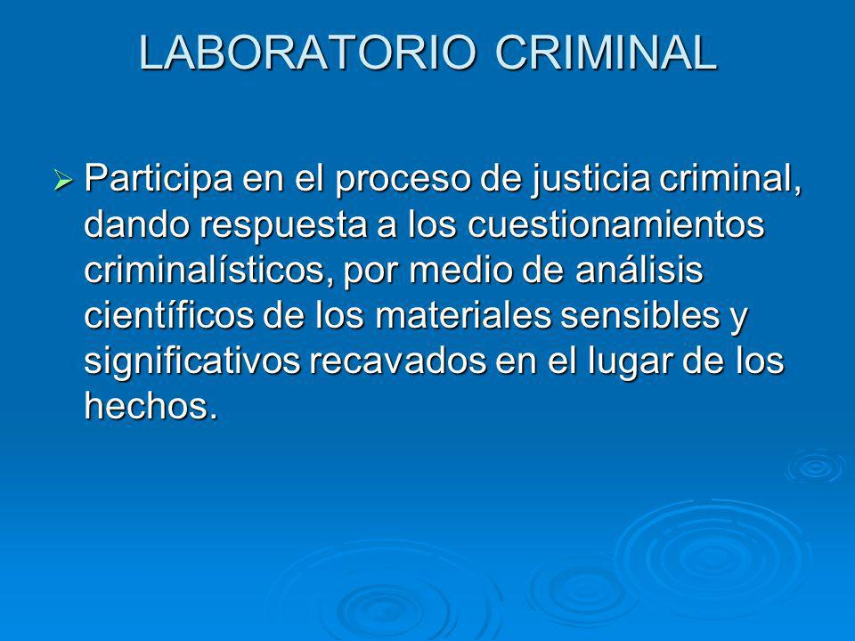 LABORATORIO CRIMINAL