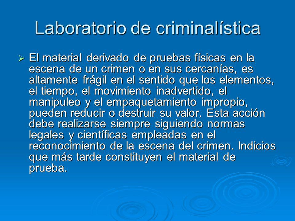 Laboratorio de criminalística