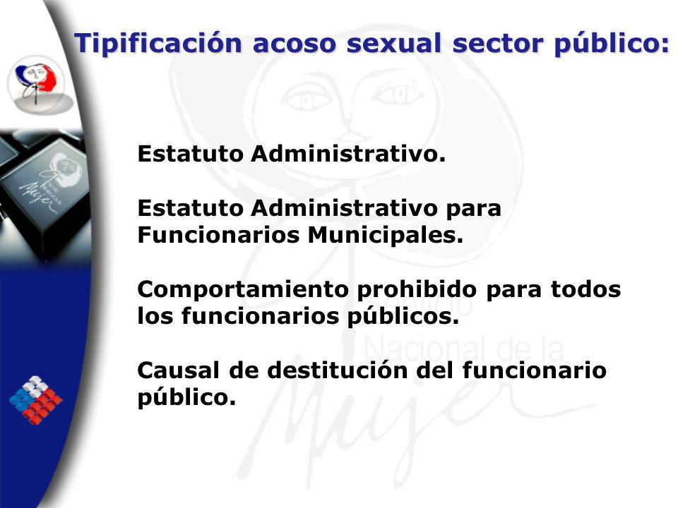 Tipificación acoso sexual sector público:
