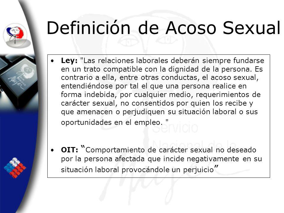 Definición de Acoso Sexual