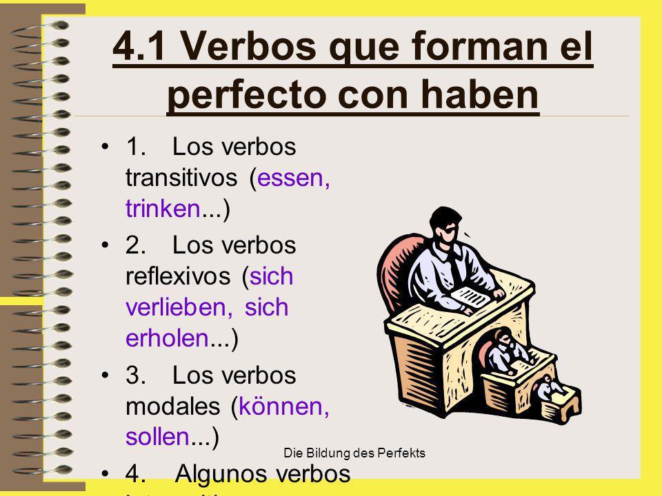 4.1 Verbos que forman el perfecto con haben