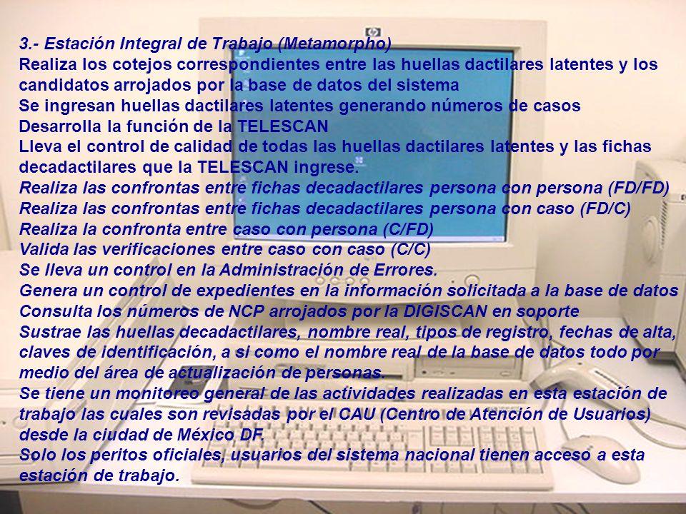 3.- Estación Integral de Trabajo (Metamorpho)