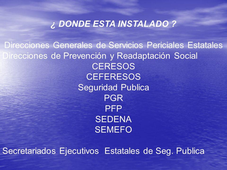Direcciones Generales de Servicios Periciales Estatales