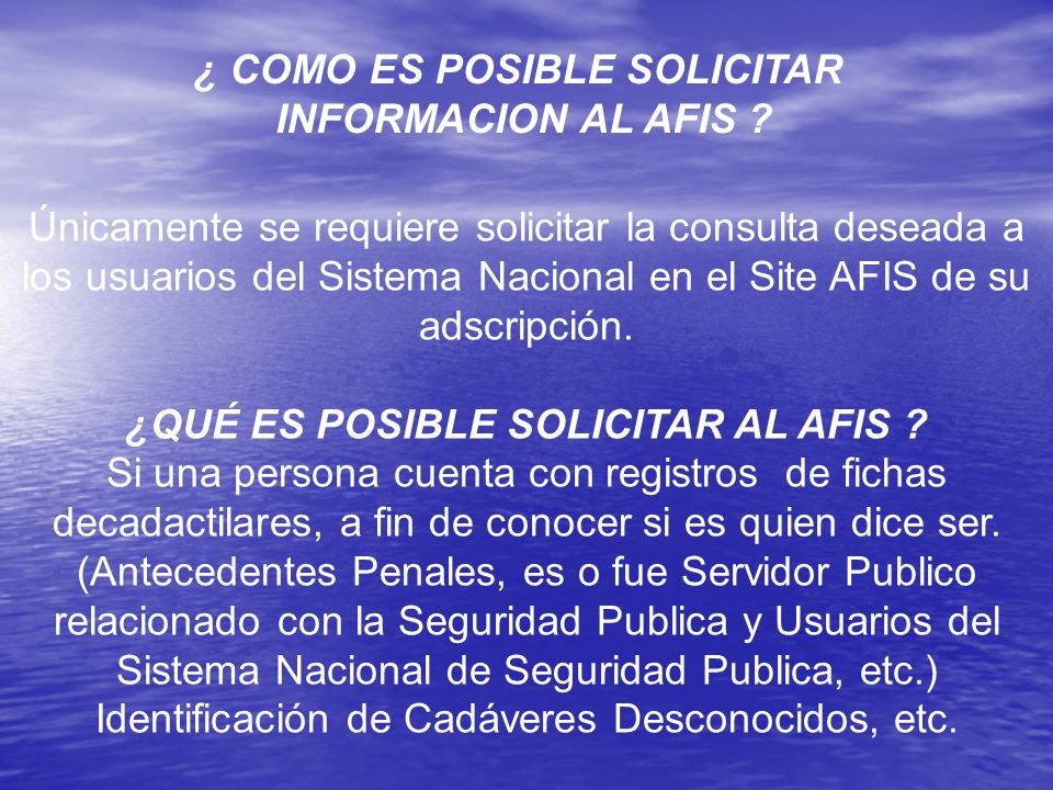 ¿ COMO ES POSIBLE SOLICITAR