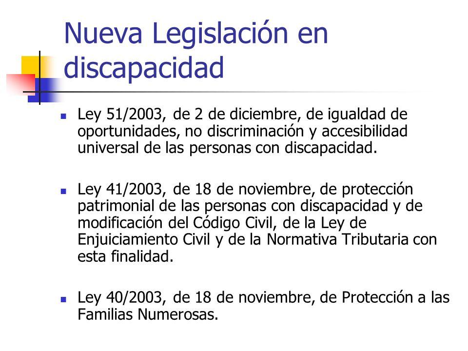 Nueva Legislación en discapacidad