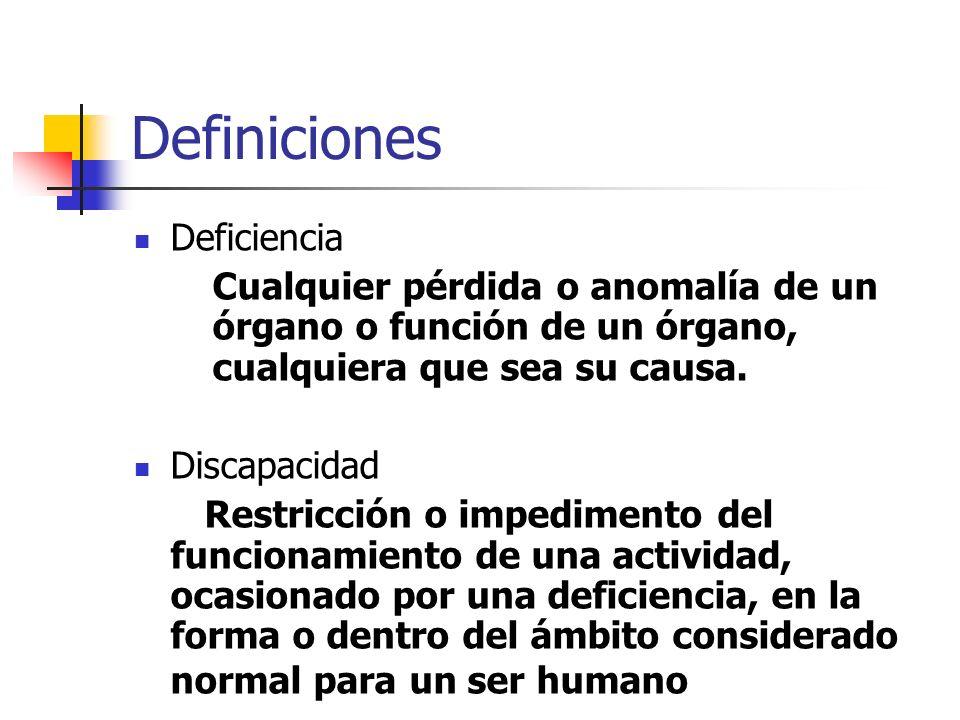 Definiciones Deficiencia