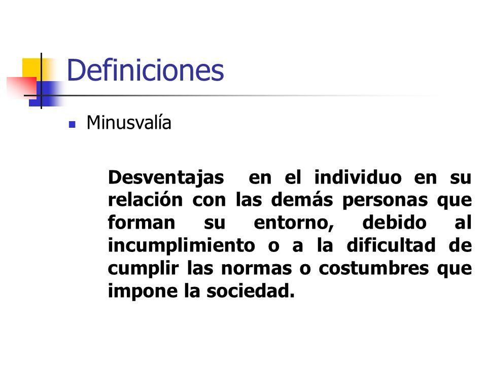 Definiciones Minusvalía